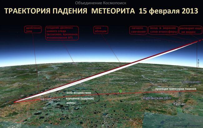 падения метеорита 15